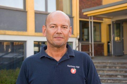KONKURSRAMMET: Rune MIdtun, Frp sin ordførerkandiat på Karmøy.