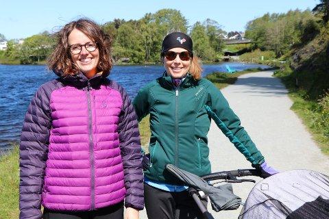 LIKER DET: Ingrid Børtveit og Karianne Bakkevig synes arbeidet som blir gjort i Vangen er veldig bra.