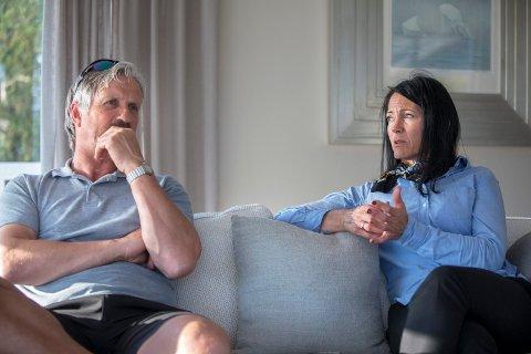 GIR IKKE OPP: Dag Skiftestad og Liv Berit Flatebø fortsetter kampen mot Haugesund Turnforening.