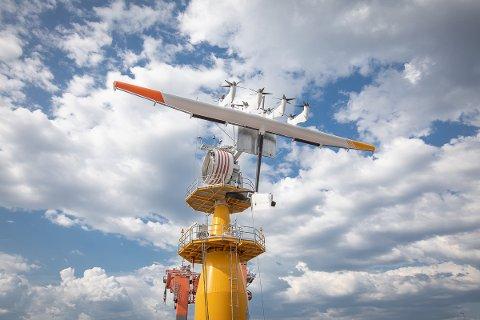 ENERGIDRAGE: Makani, et datterselskap av Google, klargjør deres energidrage for testing utenfor Karmøy.