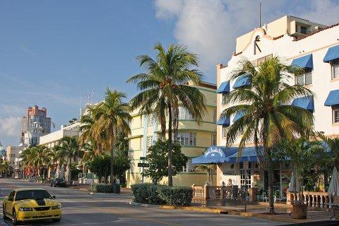 MIAMI: Arild Fagerland mener at Åkrehamn bør se til Miami og la palmer og pastellfarger innta byen.