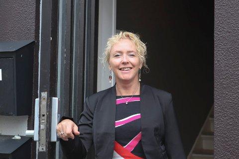 I GANG: Anny Beate Myge Kvale (43) har så smått startet opp sin nye psykologpraksis i Haraldsgata 142.
