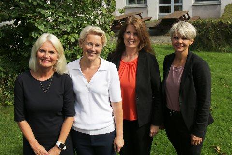 FIRE AV FIRE: Rektorene ved de fire videregående skolene i Haugesund, Bente Romseland Døsen (Karmsund), Kari Handeland (Skeisvang), Ragnhild Aspen Alvsaker (Vardafjell) og Solveig Rossebø Kalstad (Haugaland).