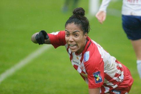 TOMÅLSSCORER: Avaldsnes Giovanna de Oliveira viste vei og scoret to mål da Avaldsnes vant mot Kolbotn.