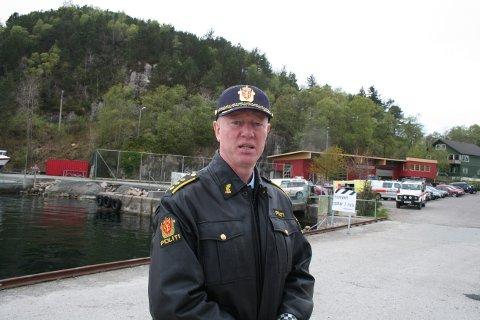 UTFORDRENDE: Dette skal ikke gå utover beredskapen, sier Roald Raunholm, fungerende politistasjonssjef ved Stord lensmannskontor. Arkivbilde.