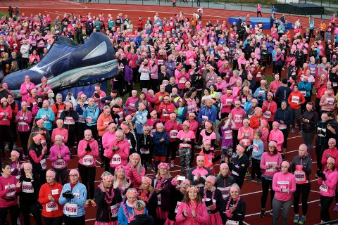 1700: I fjor var det over 1700 som deltok i Rosa Sløyfe-løpet i Haugesund. I år kan det bli flere.