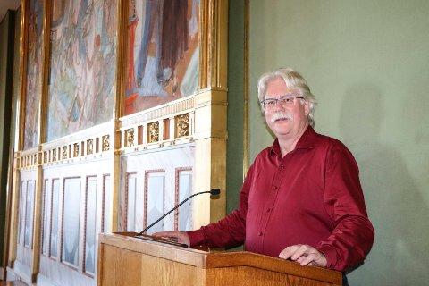 TALERETT: Å få tilgang til talerstolen i bystyresalen er ingen liten sak for Rødt og liste-veteranen Stig Riise Pettersen.