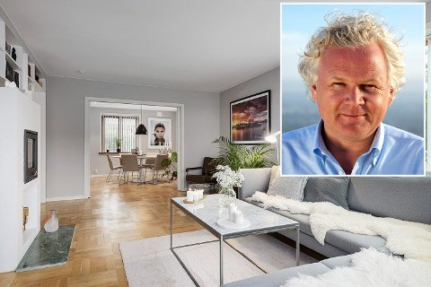 Øyvind Fjeldheim selger sin leilighet i Asalvikvegen, men flytter ikke langt.