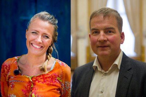UENIGE: Kostholdsentusiast Margit Vea og helsepolitiker Sveinung Stensland (H) er svært uenige om vaksiner. Begge har uttrykt sin frustrasjon på nett.