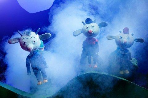 """TEATER:  """"Bukkene Bruse lager rumpebrann"""". Teaterstykke med Riksteateret."""