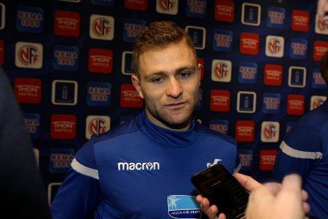 LANGT NEDE: Sondre Tronstad, som kom til FKH fra engelske Huddersfield, må foreløpig se langt etter et nytt utenlandsopphold.