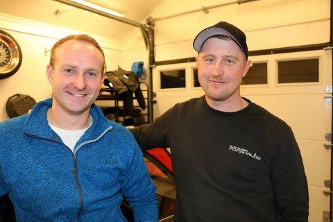 FELLES HOBBY: Alexander Haraldsen (t.v) og Per Henrik Magnussen ble venner gjennom sin store interesse for BMW-er. Nå oppfyller de en drøm sammen.