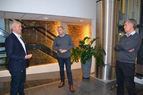 KJEMPER FOR ORDNING: Kenneth Walland,adm. dir. i Østensjø Rederi, Terje Halleland, stortingrepresentant for Frp og Per Stange, styreleder Maritimt Opplæringskontor/HR-sjef i Solstad Offshore.