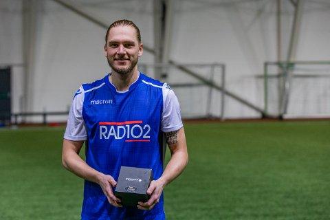BESTEMANN: Jesper Andreasson ble kåret til Presselagets beste spiller i kampen mot FKH i Storhall Karmøy i januar.