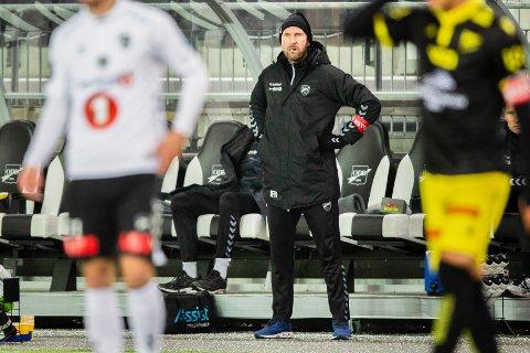 Skien 20201122.  Odds trener Jan Frode Nornes i eliteseriekampen i fotball mellom Odd og Start på Skagerak Arena. Foto: Trond Reidar Teigen / NTB