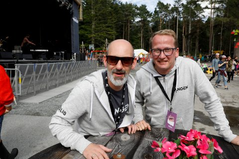 GLEMTE SEG: - Søknadsfrsiten glapp for oss. Det er litt trist, sier styreleder for Den Festivalen i Vangen Henry Røthing (til høyre). Festivalsjef Steinar Liadal (t.v.).