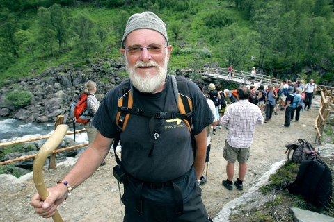 DØD: Jan Asbørn Hovland er død. Her fra gjenåpningen av pilegrimsveien mellom Vest-Telemark og Røldal.