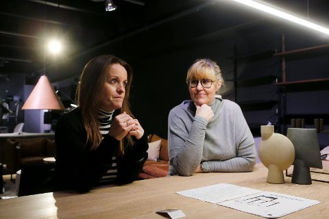 Rita Kristin Aune Saltvedt og Jane Dunkley i Indesign er bekymret for at møbelbransjen skal gå på samme smell som sportbransjen.