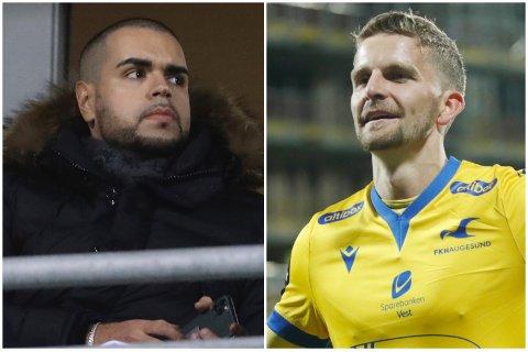 GJESTER: Agent Imad El Hammichi og FKH-spiller Torbjørn Kallevåg.