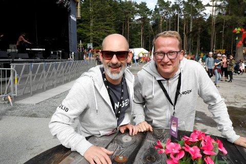 Den Festivalen i Vangen: Festivalsjef Steinar Liadal og styreleder Henry Røthing.