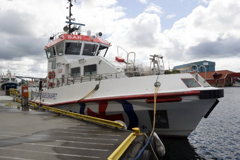 FORLATER SNART HAUGESUND: RS «Bergen Kreds III» pleier å ligge på kaien ved Kyvik-bygget når den ikke er ute på oppdrag. Snart reiser den nordover på Vestlandet.