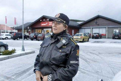 FORNØYD MED BILISTENE: Vaktsjef Britt Jorunn Løvereide på Haugesund politistasjon.