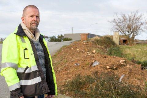HAR NOK Å GJØRE: Avdelingsleder Tom Bakke og kollegene i avdeling for vei i Karmøy kommune.