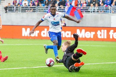 NY KLUBB?:  Ifølge Eurosport skal Haugesunds Ibrahima Koné være høyaktuell for Sarpsborg 08.