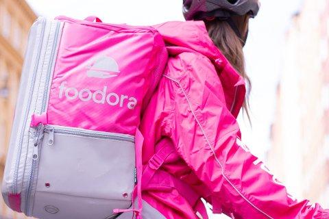 ROSA: Foodora er kjent for sine rosakledde bud.
