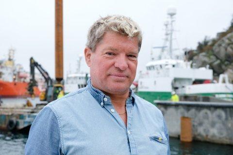 Daglig leder Arne Harald Stensland hos Skude fryseri .
