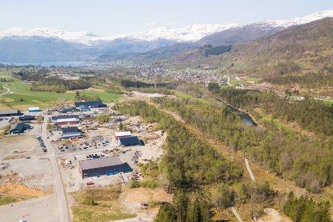 BIRKELAND: På det 140 dekar store industriområdet på Birkeland skal fabrikken ligge.
