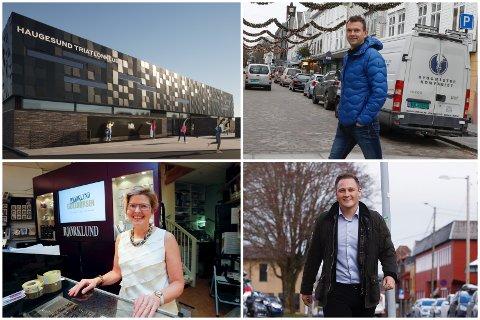 PÅ SAMME LAG: Det er mange som vil støtte HTK-hallen (oppe t.v.). Blant annet Håkon H. Larsen (oppe t.h.), Anita Hovde (nede t.v.) og Harald Larssen Lønning (nede t.h.).