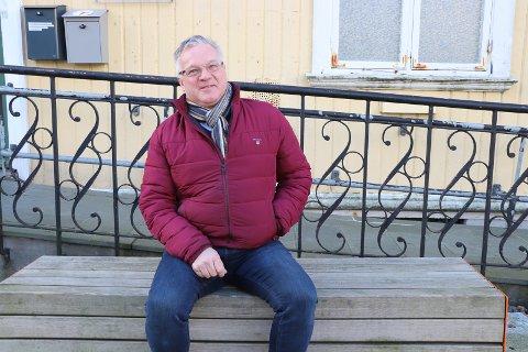 STÅR PÅ: Geir Jakobsen er markedskoordinator i Haugesund Sentrum AS. Han forteller at optimismen er på plass hos butikk-driverne.