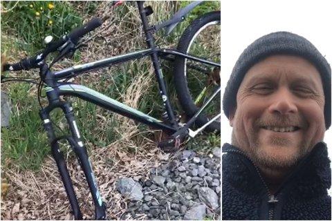 MÅTTE LE: Øystein Brekke skjønner ikke hvorfor tyveriet var begrenset til kun et dekk, når sykkelen sto ulåst.