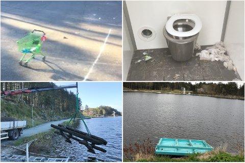 ROT: Etter å ha fått mye skryt etter natt til 1. mai, har det sklidd noe ut på uteområdet i Haraldsvang og langs turstier.