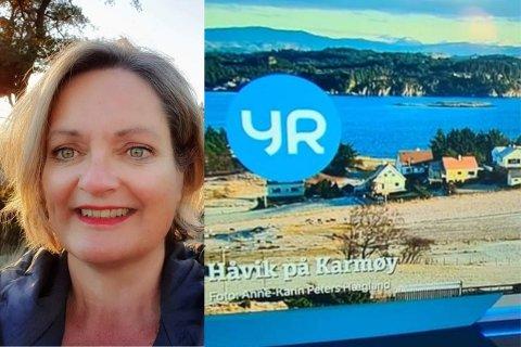 PÅ TV: Til nå har 49 av Anne-Karin Peters Hæglands bilder blitt vist under statskanalens værmeldinger.