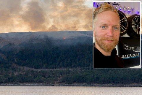 Torbjørn Alendal stikker av med 5000 kroner for videoen han delte med Haugesunds Avis i april.
