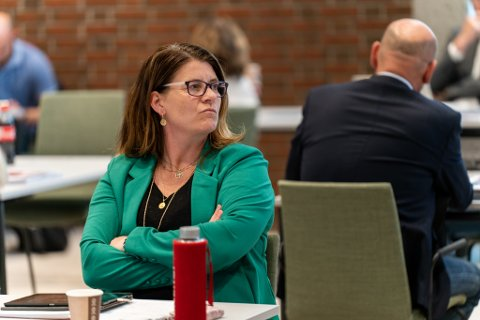 IRRITERT: Gruppeleder i Karmøy Arbeiderparti, Svanhild Andersen.