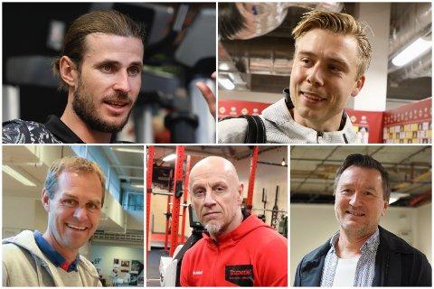 STYRET: Håvard Nordtveit (oppe til venstre) er styreleder i det nye selskapet Sentrum trening eiendom AS. Med seg i styret har han Alexander Søderlund (oppe til høyre), Arvid Vestre (nede til venstre), Harald Andreassen og Dag Arne Toft.