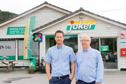 MERKER EN ENDRING: Helge Morten Askvig og Martin Askvig fra Joker Hinderåvåg