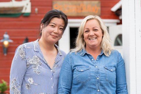 SPENTE: Hyun Jung Lee og May Kristin Ytraland satser på Åkra.