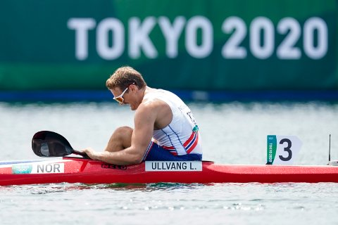 Tokyo, Japan 20210802.  Padleren Lars Magne Ullvang (27) ble nummer 3 i forsøksheatet i sin OL-debut i Tokyo. Det betyr en ny sjanse til å ta seg til semifinalen om få timer. Foto: Heiko Junge / NTB