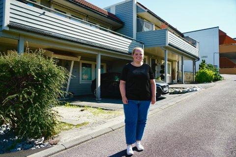 KJEKT OMRÅDE: Egentlig var det et av de andre husene i rekka Maria Klyve Kvassheim først falt for. Noen måneder senere la hun inn bud på nabo-rekkehuset, uten å ha vært på visning.