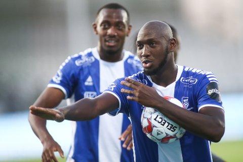 FRA FKH TIL SARPSBORG: Ibrahima Koné ble solgt fra FKH til Sarpsborg i vinter. Bak ser vi nok en tidligere FKH-spiller, nemlig Ben Karamoko.
