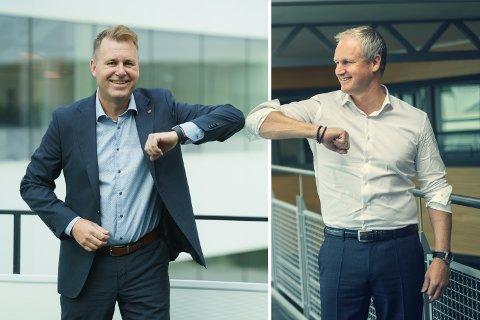 WINGMEN: Cegal-direktør Svein Torgersen og Sysco-direktør Dagfinn Ringås albuer rekker hele veien over Boknafjorden, og ut i verden.