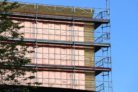 ESTETIKK: Slik blir deler av fasaden på det sentrale bygget.