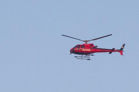 KONKURS: Et helikopter fra Fonnafly under et arrangement på Fornebu. Nå er det slutt for selskapet.