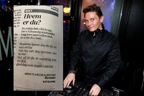 REAKSJON: Rune André Ristesund reagerte på diktet Haugesunds Avis publiserte.