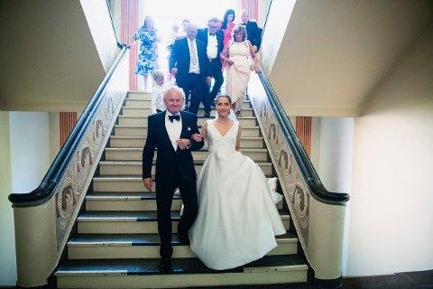 RØRENDE: Øyvind Fjeldheim giftet seg lørdag med Reidun Hetland i bystyresalen i Haugesund rådhus.