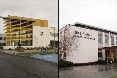 VALG: Se resultatene for både Åkrehamn videregåande skole og Skeisvang videregående skole.